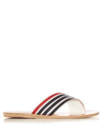 cross sandals blue shoes