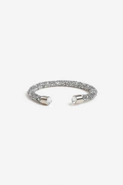 Topshop cuff clear jewels