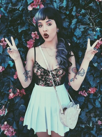skirt melanie martinez blue skirt blue pink