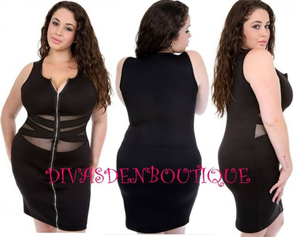 Zipper dress plus