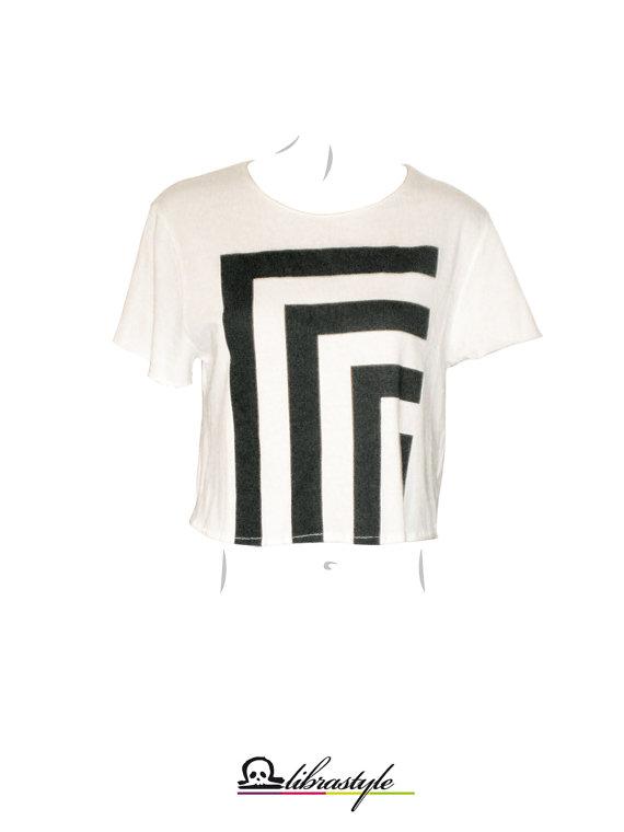 Monochrome Ernte Top Optical schwarz / weißtShirt von librastyle