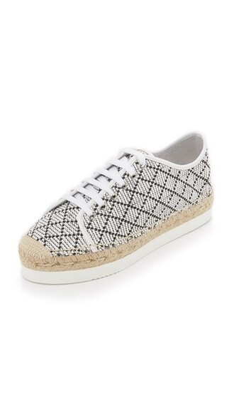 espadrilles lace white shoes