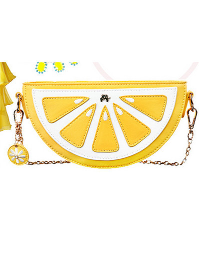 Lemon bag fruit clutchy clutch cute handbag