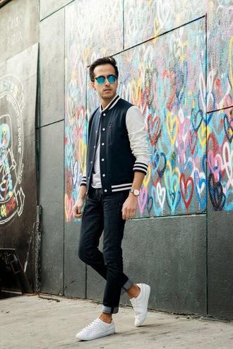 the metro man blogger mens jacket baseball jacket menswear