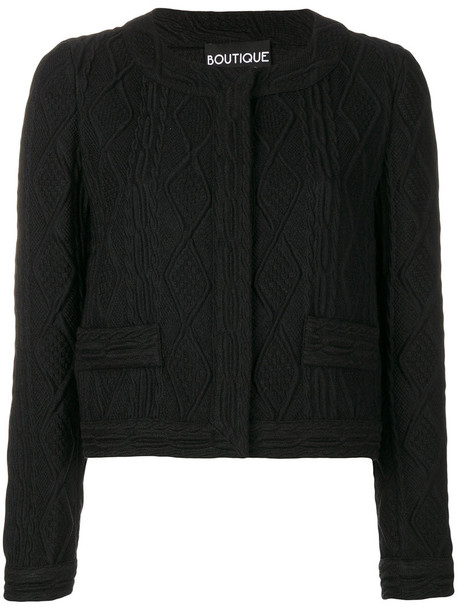 BOUTIQUE MOSCHINO jacket cropped women black wool