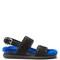 Fur-insole calf-hair sandals