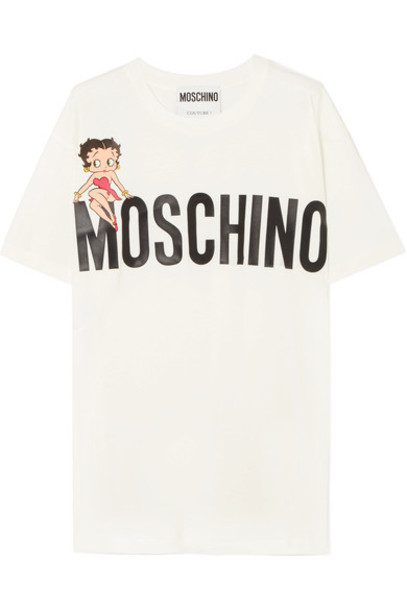 t-shirt shirt t-shirt oversized betty boop white cotton top