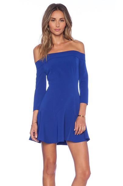 NBD dress smoke blue