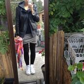 skirt,grey