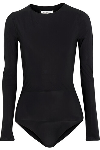 bodysuit layered black underwear