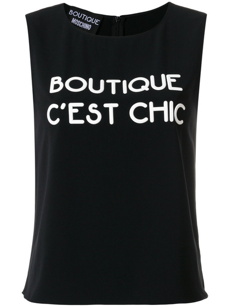 BOUTIQUE MOSCHINO tank top top women spandex black