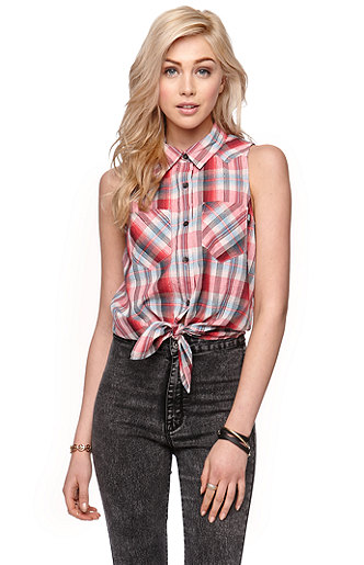 Vans Prenna Plaid Woven Shirt at PacSun.com