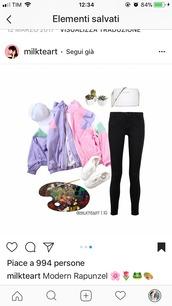jacket,pink,hipster,pants,summer,patchwork,rainbow,kawaii,windbreaker,outerwear,outfit,instagram