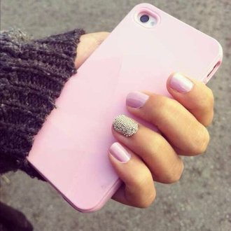 nail polish phone cover pink pastel phone case chanel iphone 6 6s case