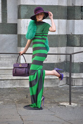 dress,stripes,green dress,maxi dress,jersey,striped dress