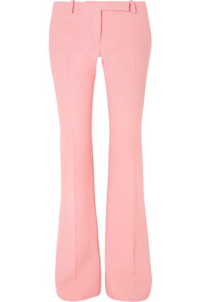 Alexander McQueen - Wool-blend Crepe Bootcut Pants - Baby pink