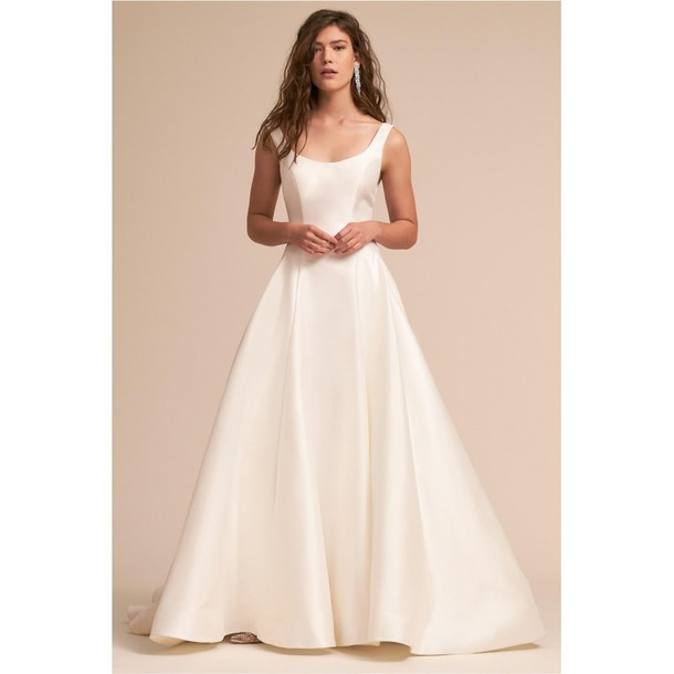 c2fae2ba4a5 dress ivory daisy doll wedding dress by bhldn wedding dress satin corrine  bishop chapel train