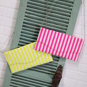 bag,pink,yellow,stripes,bright,satchel,clutch