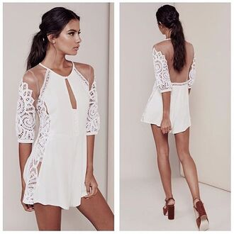 romper white lace romper lace romper white romper open back open back romper for love and lemons love and lemons cute romper