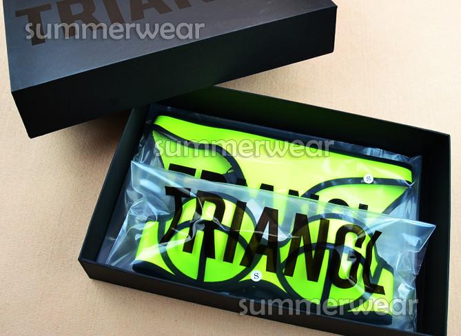 Neon yellow swimwear