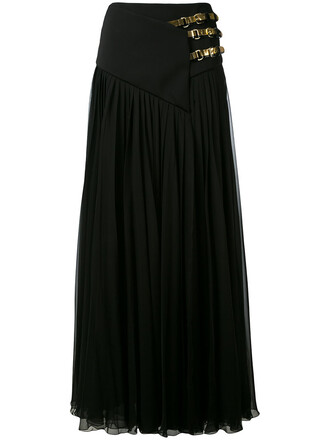 skirt maxi skirt maxi women leather black silk