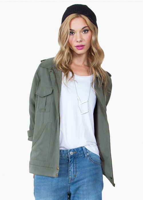 Safari Lands Utility Jacket | Green Anorak Jacket