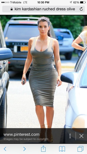 dress ruched dress kim kardashian dress sundress