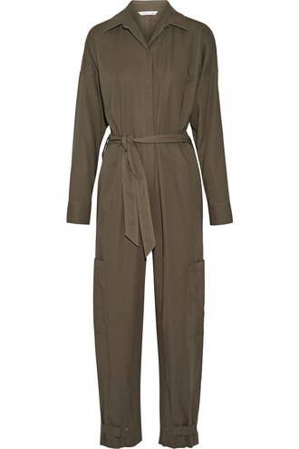 jumpsuit cotton green army green