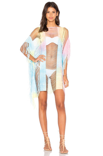 cover up tie dye blue