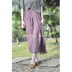 Soft chiffon pleated skirt