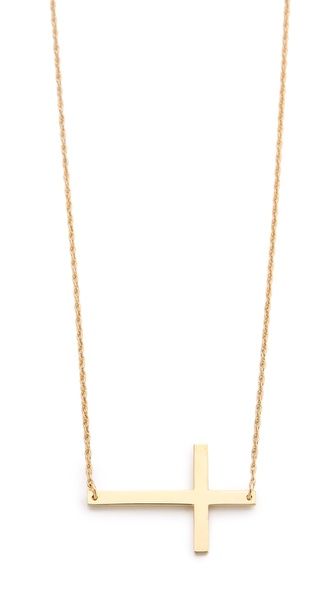 Jennifer Zeuner Jewelry Horizontal Cross Necklace | SHOPBOP