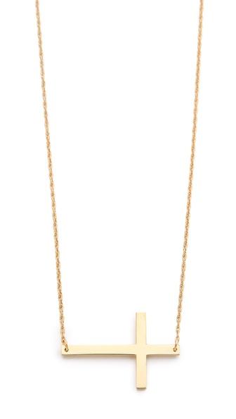 Jennifer Zeuner Jewelry Horizontal Cross Necklace | SHOPBOP