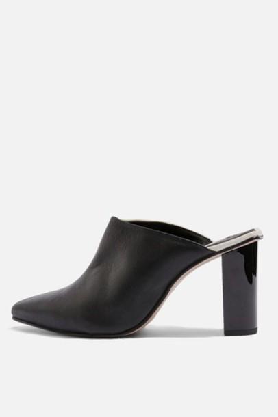 Topshop mules monochrome shoes
