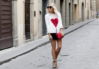 damsel in dior blogger sweater bag shorts jewels shoes