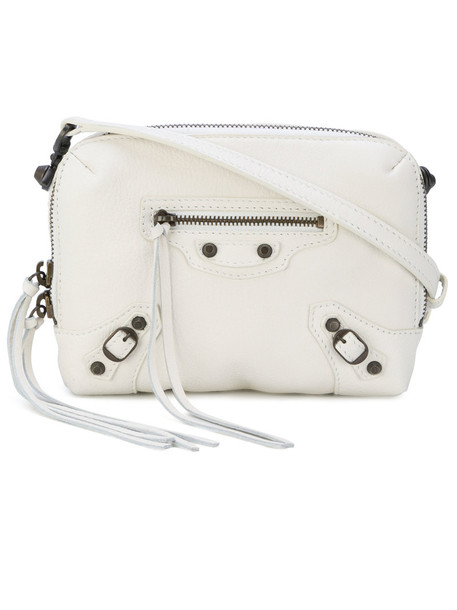 Balenciaga cross women bag leather white