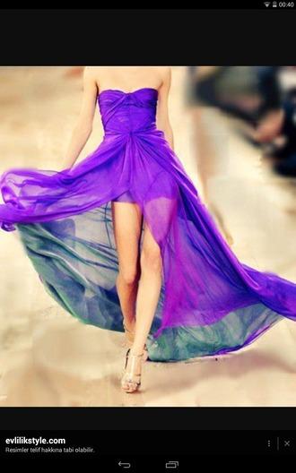 dress purple chiffon prom perfect straples short mini lilac lavender