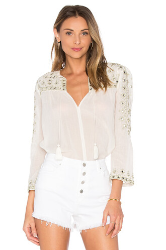 top embroidered