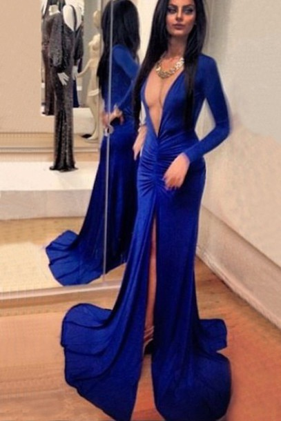 dress blue dress royal blue dress