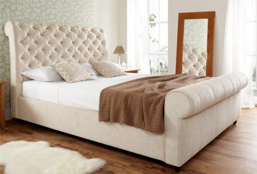 elegance upholstered sleigh bed super king size beds bed sizes