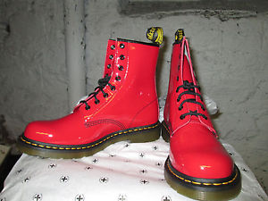 Dr Martens Red Boots Air Wair with Bouncing Soles Size 11 | eBay