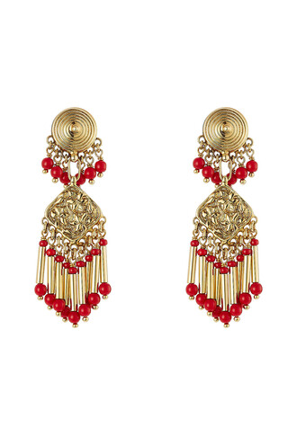 embellished earrings gold jewels