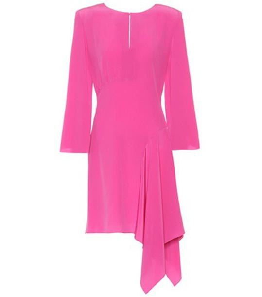 Fendi dress silk dress silk pink
