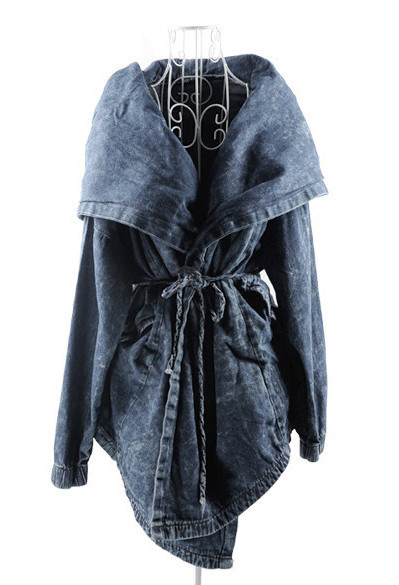 Hooded cape parka coat