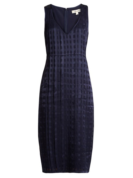 Diane Von Furstenberg dress satin dress sleeveless satin navy