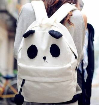bag panda black and white nice cool funny youth young teenagers guys girl
