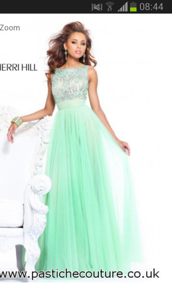 dress prom dress long prom dress prom dress sherri hill pastel