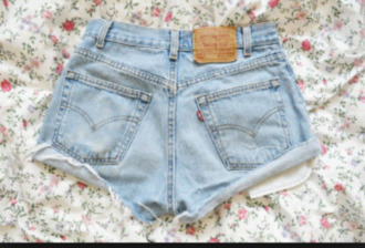 vintage girly short swag denim blue short