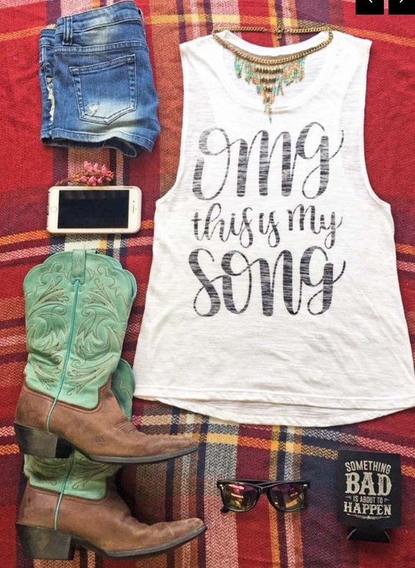 tank top luke bryan country country style music clothes festival top music festival country music boots cowboy boots