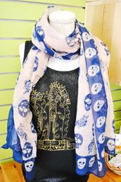 scarf,skull,roses