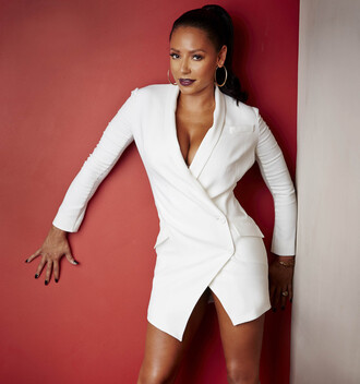 blazer dress white dress mel b